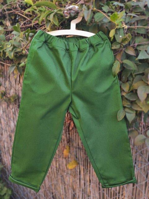 Spodnie z kieszeniami zielone