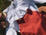 Bluzka z długim rękawem i kołnierzem biała