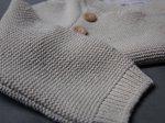 Sweterek dżinsowy reglan beżowy